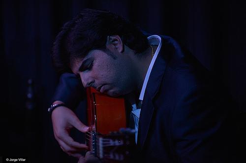 Manuel Valencia, guitarrista. Foto: Jorge Villar